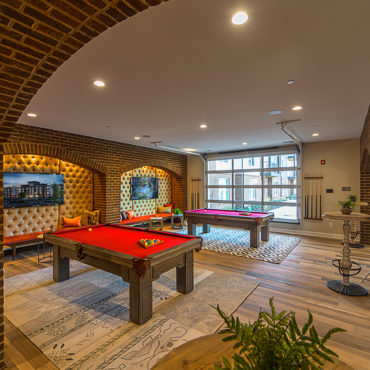 pool table room at Taylor House