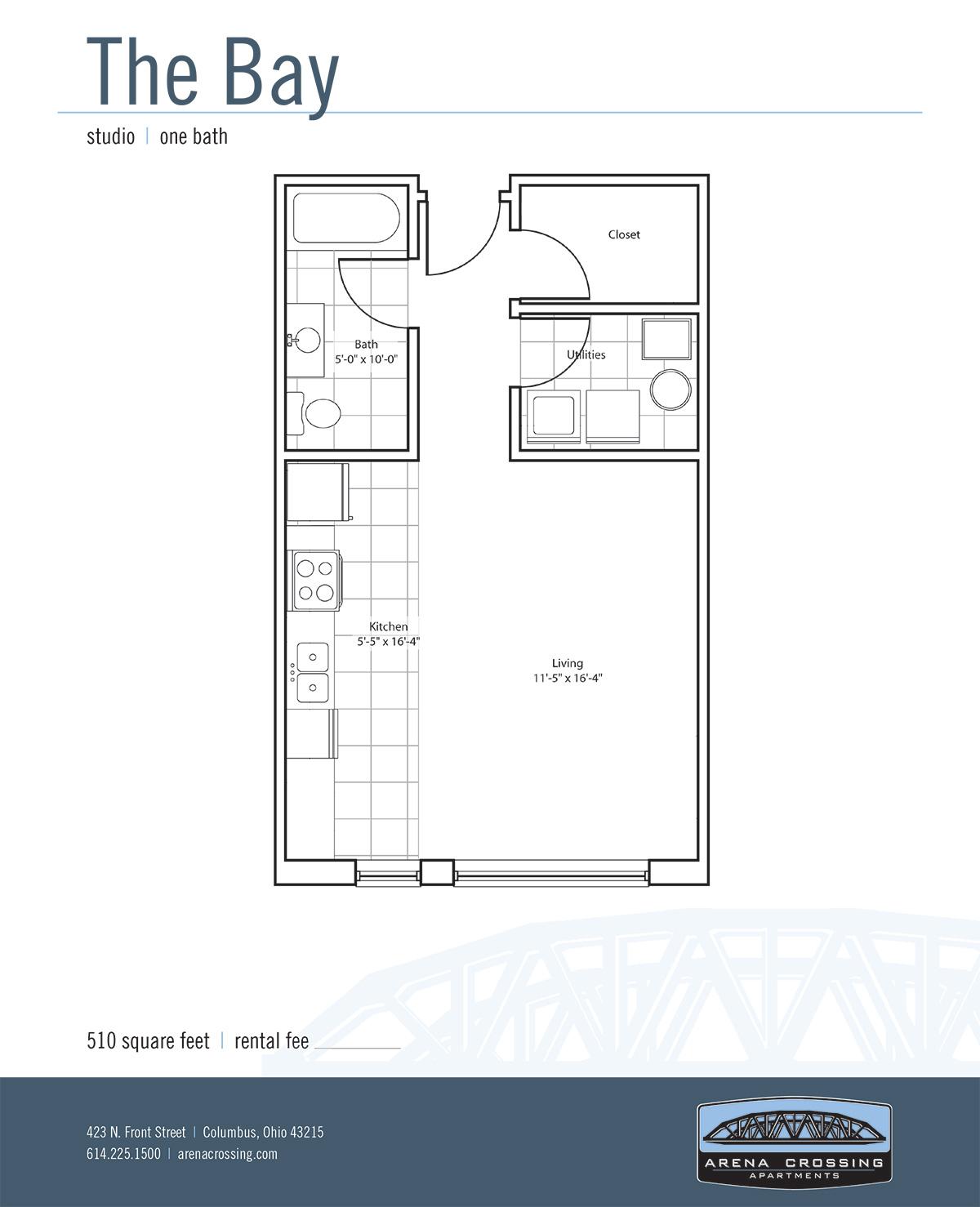 apartments in downtown columbus arena crossing studio