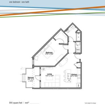 grandview apartments at the yard perry floorplan one bedroom