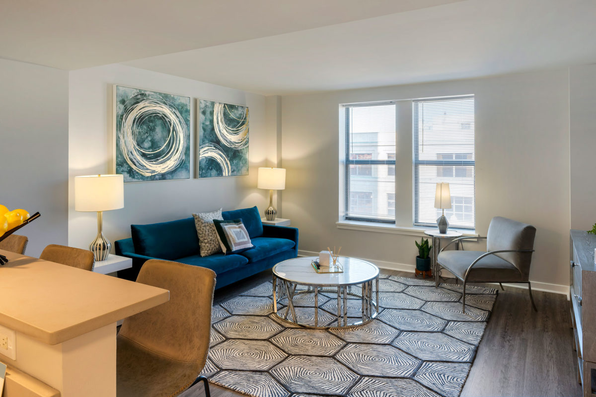 The Seneca Apartments downtown columbus living space