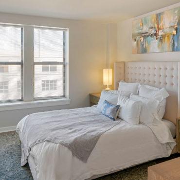 The Seneca Apartments downtown columbus bedroom