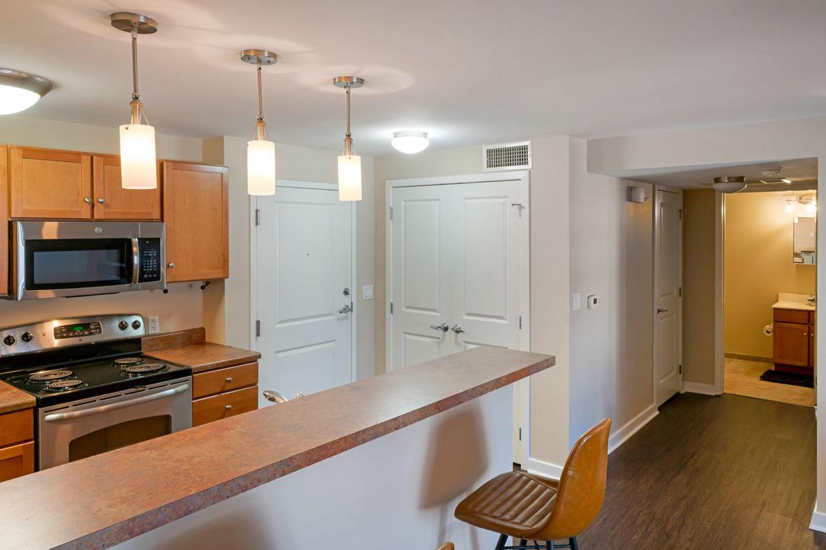 The Seneca Apartments downtown columbus kitchen
