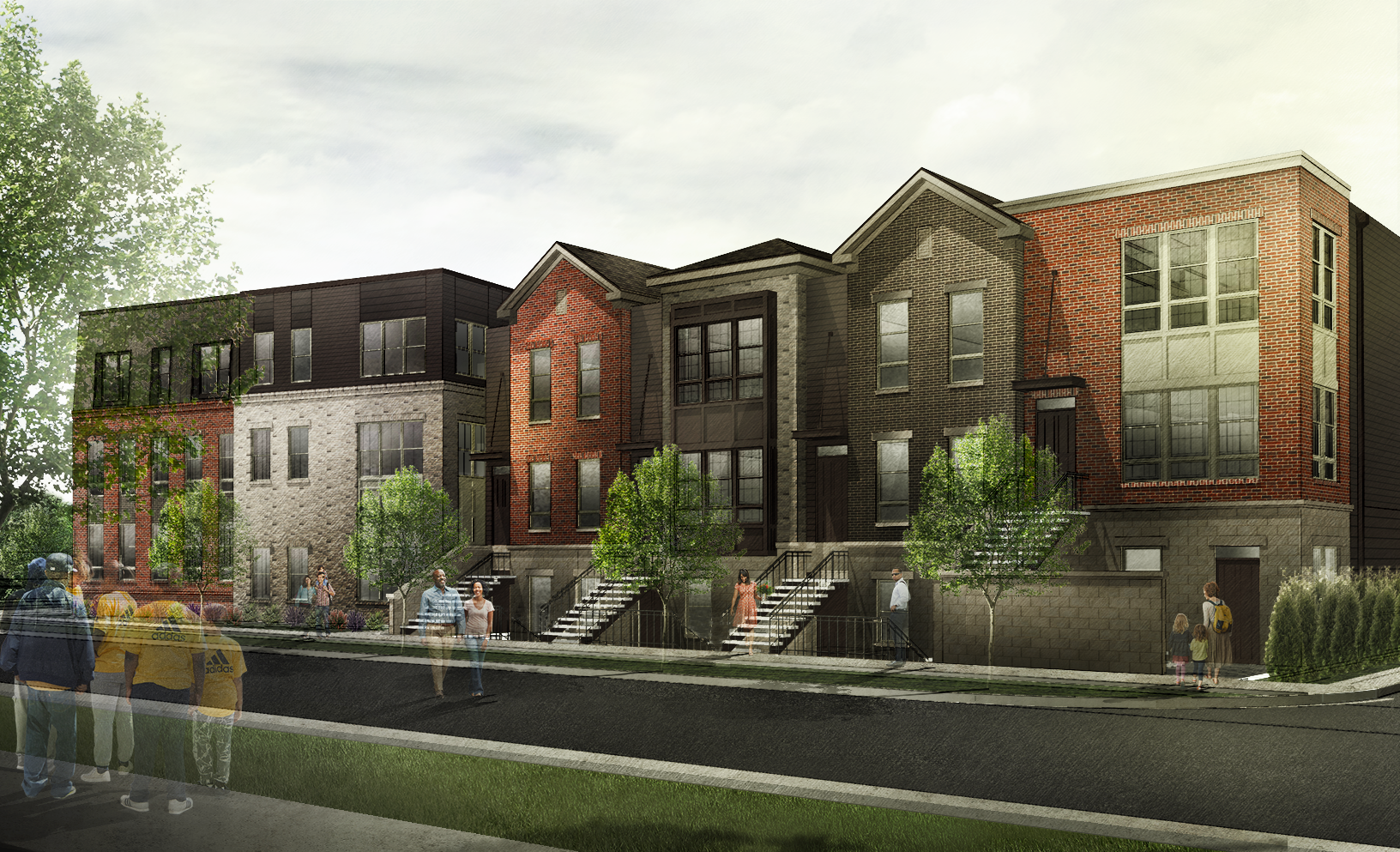 Townhome building at The Adelphi Quarter