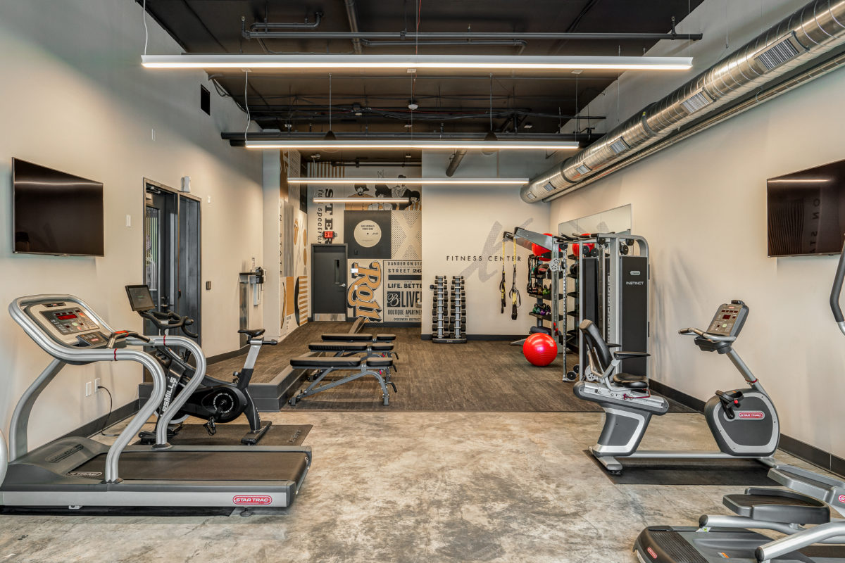 Fitness Center at Xander on State apartments