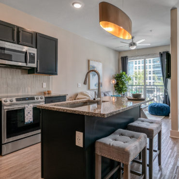 Kitchen at Xander on State apartments