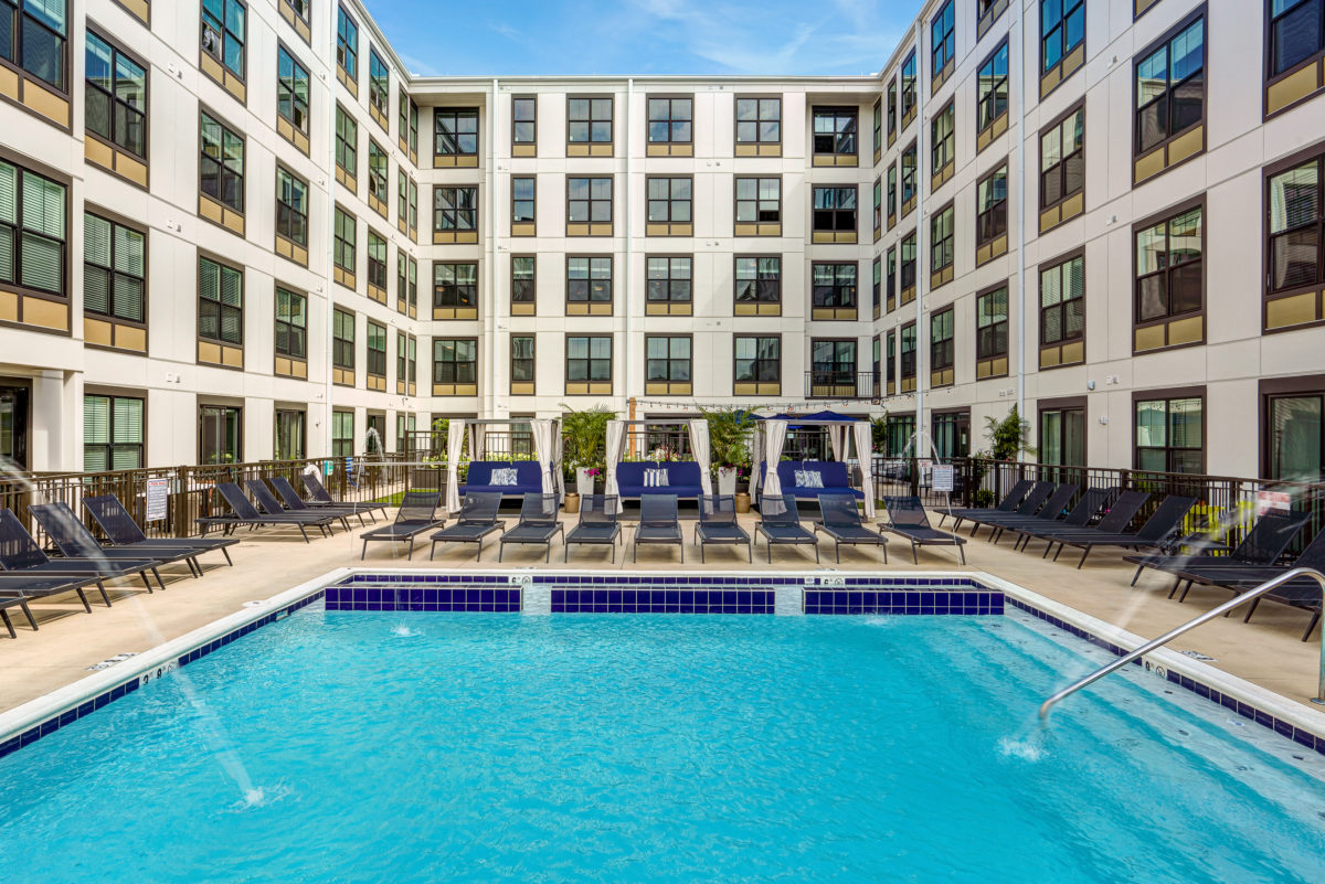 Pool at Xander on State apartments