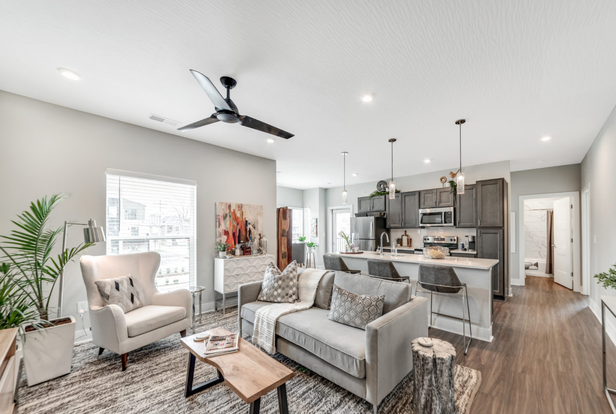 Living Space in The Jacqueline apartments in Olde Towne East