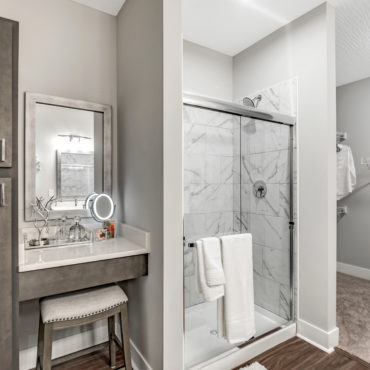 bathroom in Two bedroom apartment at The Jacqueline