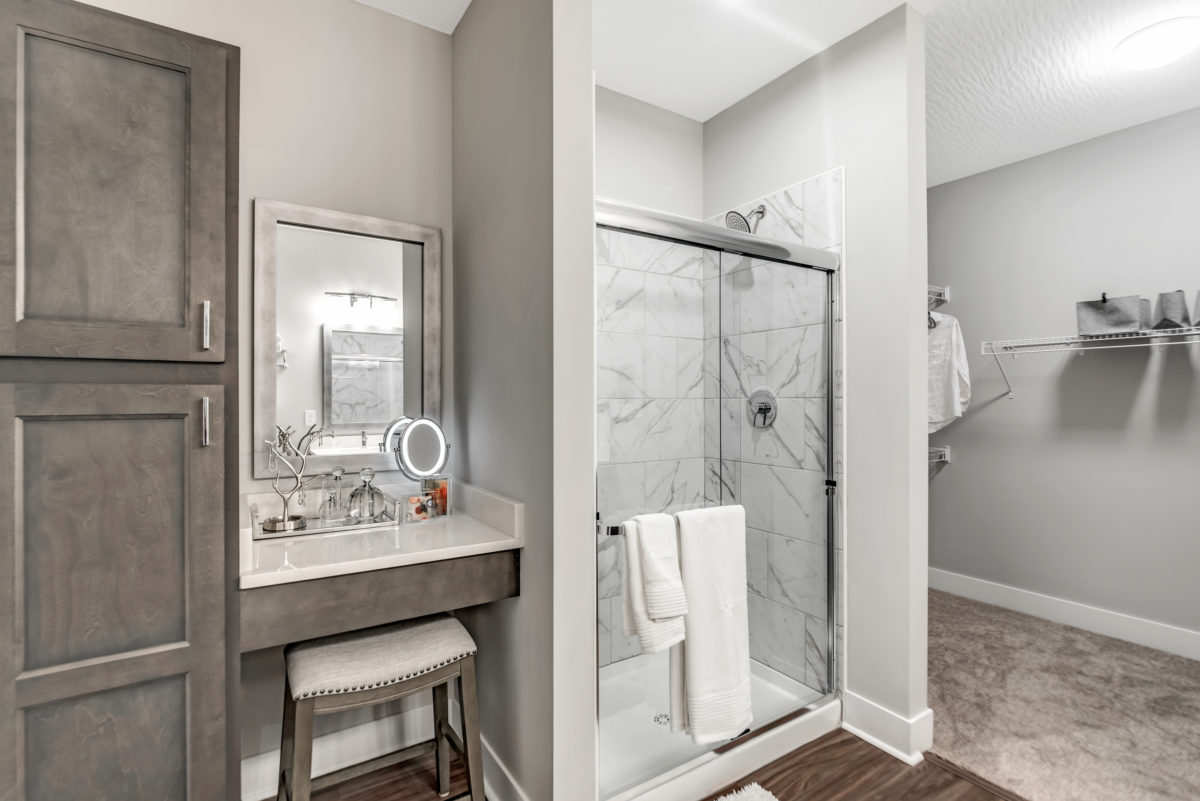 bathrooms in The Jacqueline apartments in Olde Towne East