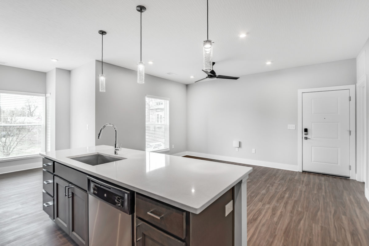 kitchen in Two bedroom apartment at The Jacqueline