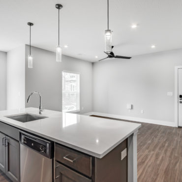Kitchen in The Jacqueline apartments in Olde Towne East