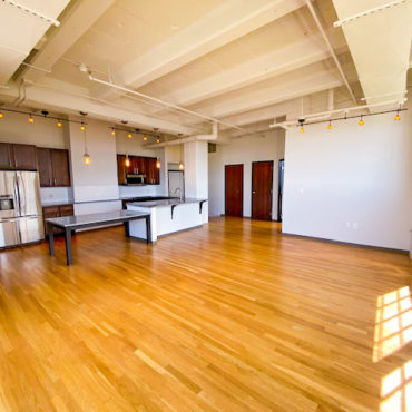 living space in in The Julian two bedroom apartment downtown Columbus