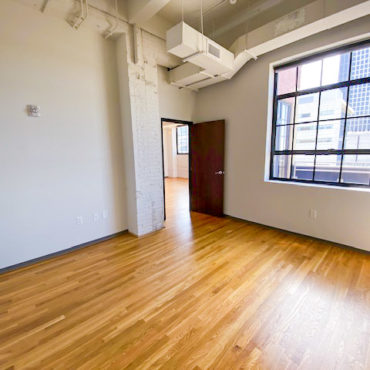living space in The Julian two bedroom apartment downtown Columbus