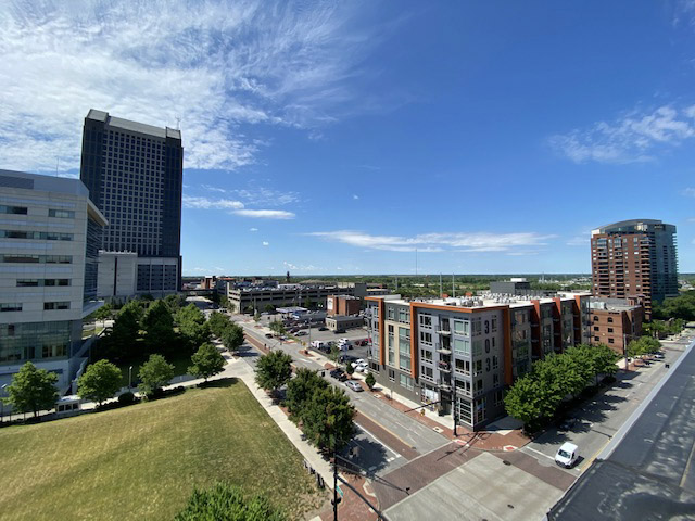 view in in The Julian two bedroom apartment downtown Columbus