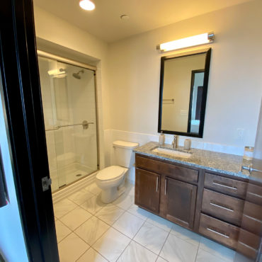 Bathroom in One Bedroom Apartment Downtown at The Julian