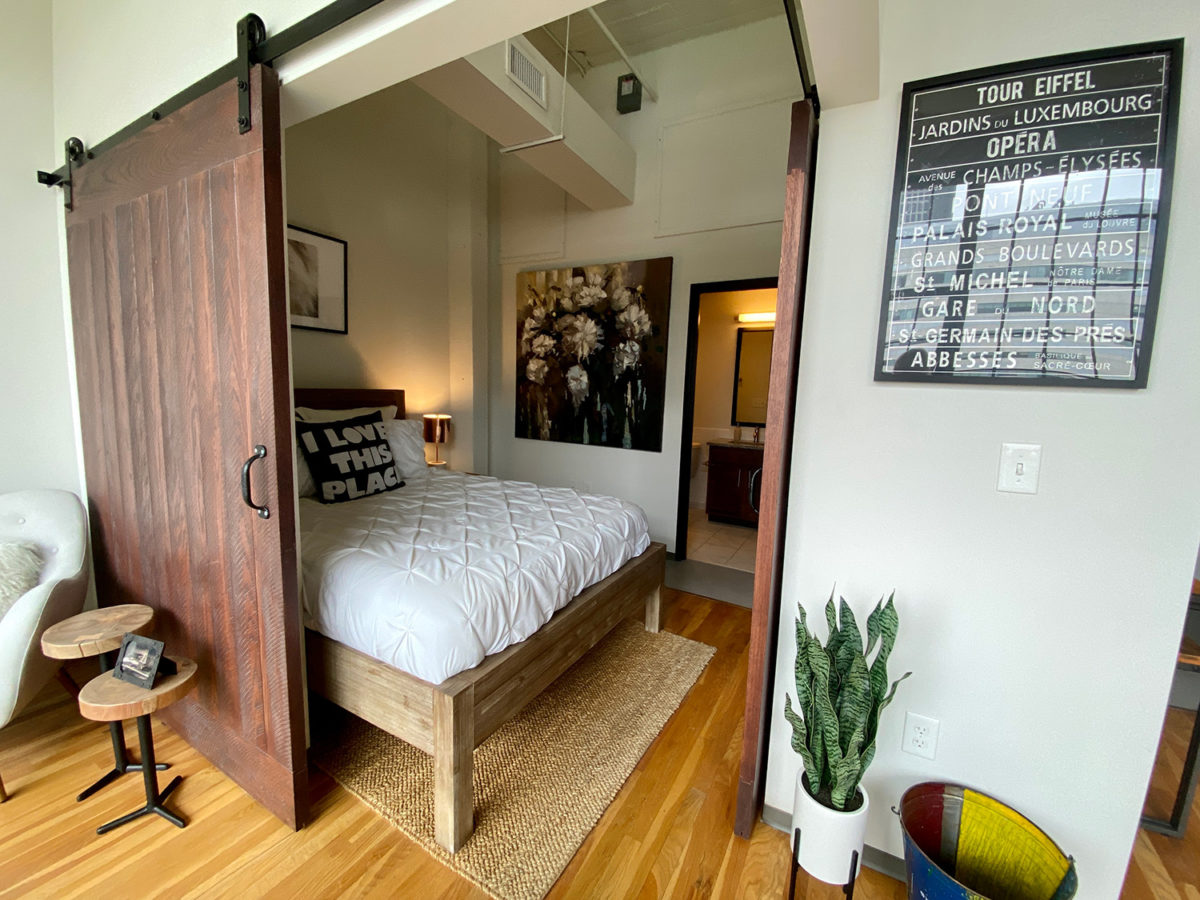 Bedroom in in One Bedroom Apartment Downtown at The Julian