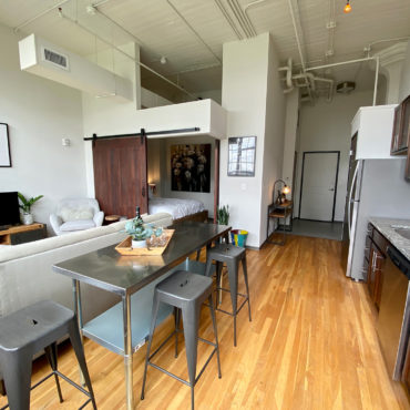 dining space in in One Bedroom Apartment Downtown at The Julian