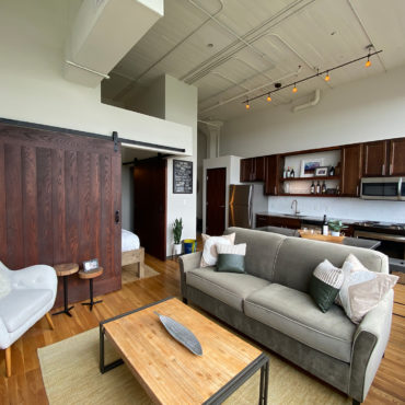 living space in One Bedroom Apartment Downtown at The Julian