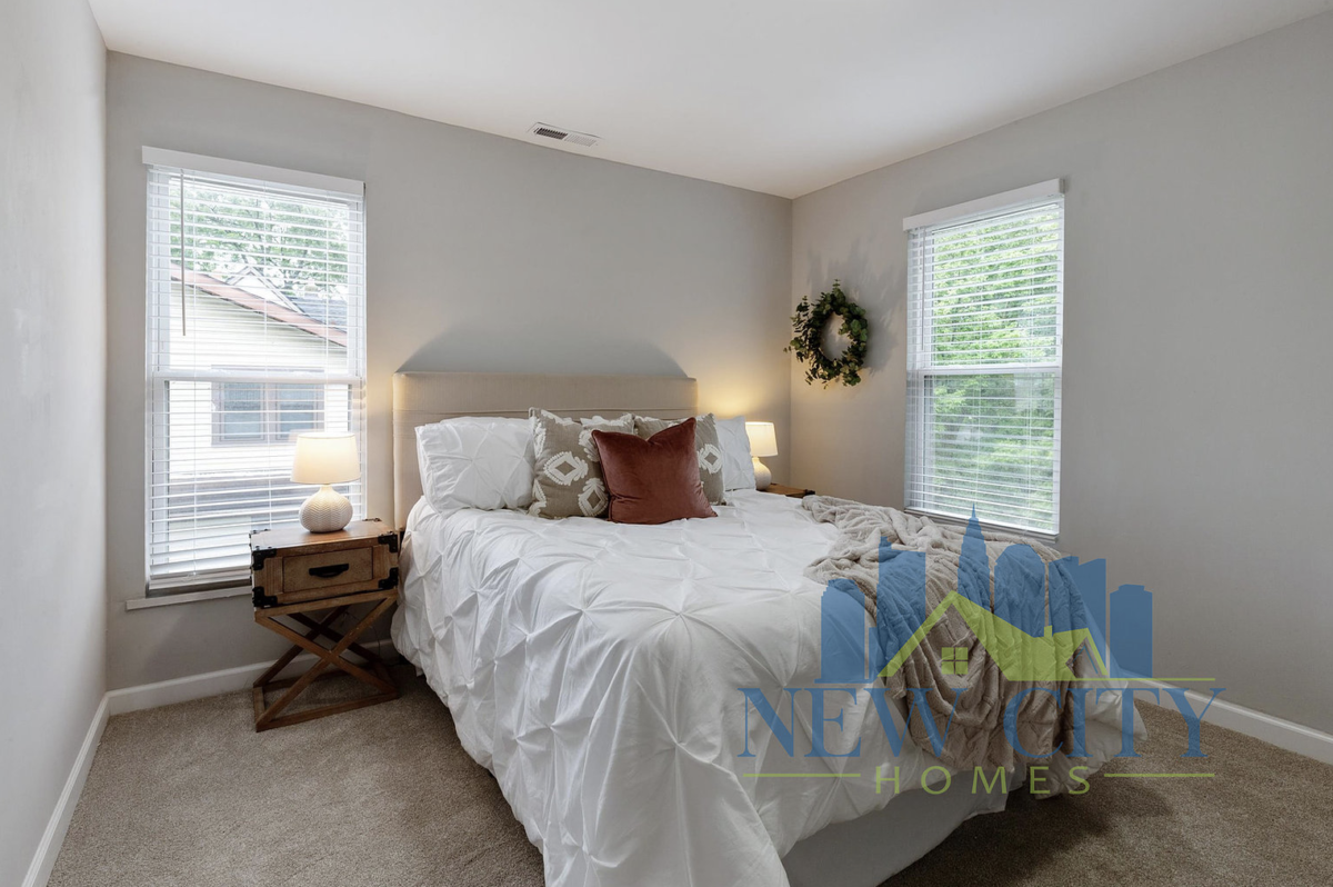 Bedroom of house in Franklinton